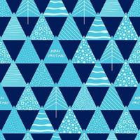 Seamless geometric pattern on paper texture. Winter fall forest background. vector