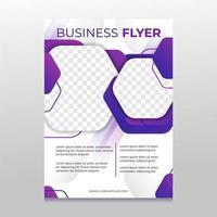 Purple Business Flyer vector