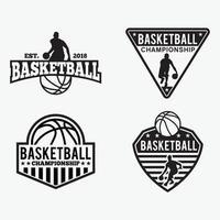 Basketball  Badges Logos vector design templates set