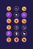 kit de elementos de interfaz de usuario de la aplicación de taxi vector