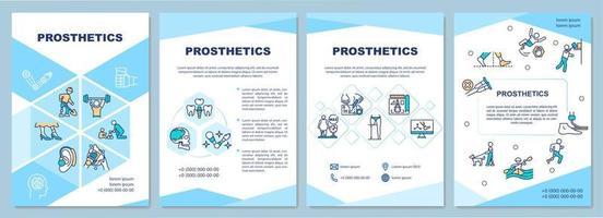 Prosthetics brochure template vector