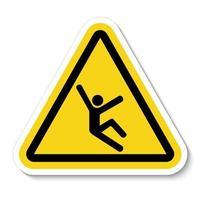 símbolo de peligro de escalada vector