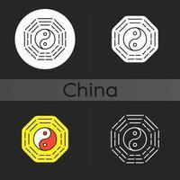 Bagua dark theme icon vector