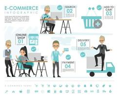 E commerce info graphic with icons vector design