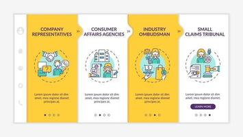 Consumer safeguard onboarding vector template