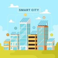 Smart City Technology Concept vector