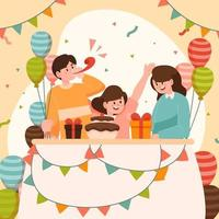 Birthday Celebration with Family Concept vector