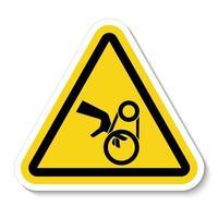 Hand Entanglement Belt Drive Symbol vector
