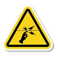 Do Not Touch Symbol Sign vector