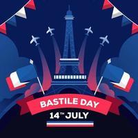 Bastile Day Background vector