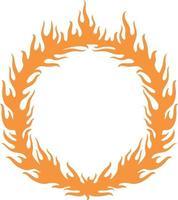 Fiery ring burning vector