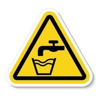 no beber agua símbolo vector