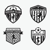 soccer badge  logo design vector template