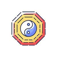 Bagua RGB color icon vector