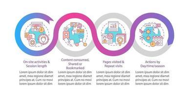 User behaviour analysis vector infographic template