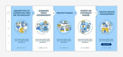 Competition-distorting policy onboarding vector template