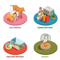 Pet Shop 2x2 Design Concept Vector Illustration