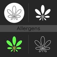Schefflera dark theme icon vector