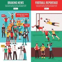 noticias banners verticales vector illustration