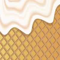 Imagen de fondo vectorial que ilustra la masa de chocolate líquido con chispas vector