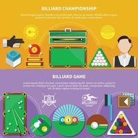 Billiard Game Horizontal Banners vector