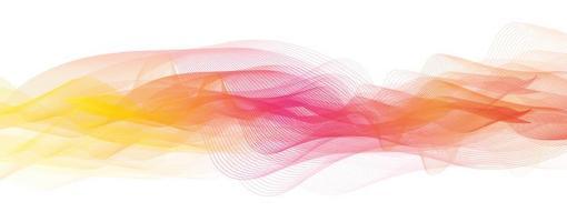 Fondo de onda de sonido colorido abstracto vector