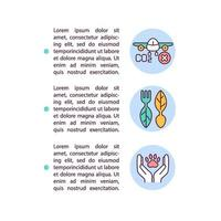 Ecotourism concept line icons with text vector