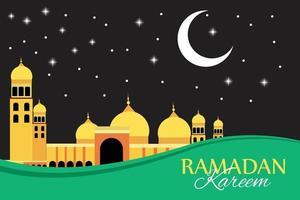 ilustración plana de ramadan kareem vector