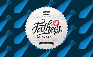 Fathers day sale banner background vector