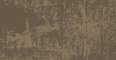 Fondo realista, antiguo muro marrón oscuro - vector