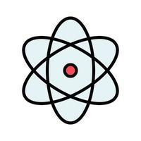 icono de vector de átomo