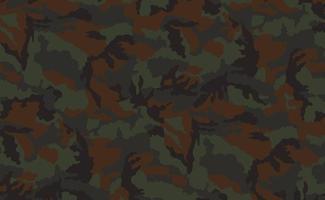 Fondo de impresión de color caqui de textura de camuflaje militar - vector