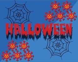 feliz halloween saludo fondos vector