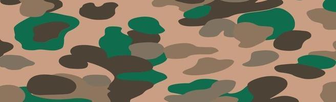 militar o de caza panorámica de color caqui geométrico de patrones sin fisuras - vector