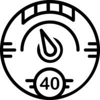 Line icon for digital gauge vector