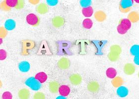 Party decorations background photo