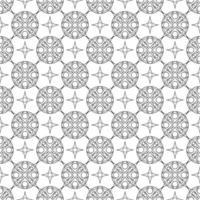 ornamento geométrico de patrones sin fisuras en blanco y negro vector
