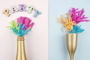 fondo de decoraciones de fiesta foto