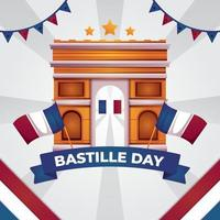 Happy Bastille Day Illustrations vector