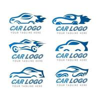 Car Logo Collection in Blue Gradient vector