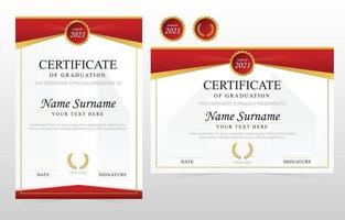 School Graduation Certificate Template vector