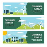 Eco Green Technology Banner vector