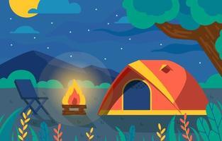 Beautiful View for Camping Fun vector