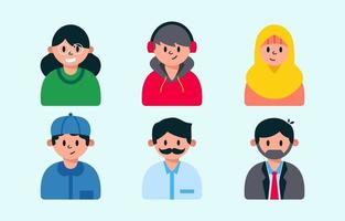 People General Avatar Collection Set vector