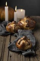 Traditional pan de muerto arrangement photo