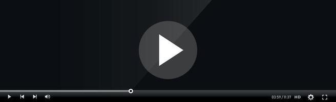 plantilla de interfaz de reproductor de video y medios - vector