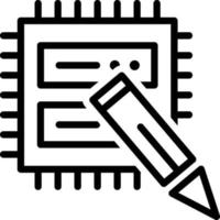 Line icon for data edit vector