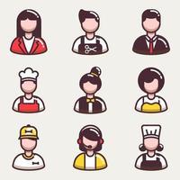 colección de iconos de personas de negocios vector