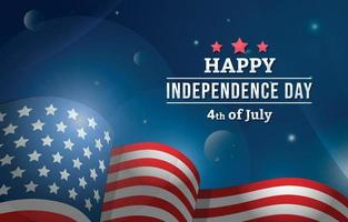 4th of July American Flag Background vector