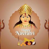 Happy navratri celebration vector illustration of Goddess durga illustration